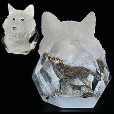 "Starlite Originals ""Devotion"" Wolves Wolf Sculpture Statue by Kitty Cantrell-NIB"