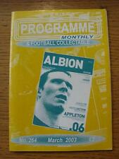 Mar-2003 Programme Monthly & Collectable: The Voice Of 'Football Programme' Coll