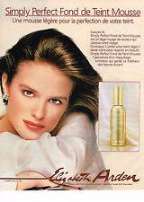 PUBLICITE ADVERTISING 054  1986  ELISABETH ARDEN  cosmétiques  SIMPLY PERFECT