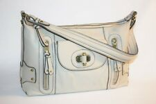 ETIENNE AIGNER - Leather Hobo Purse - Light Gray - Chocolate Lining - NWOT
