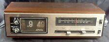 Vintage Retro JCPenney Flip-Clock Alarm 1975 AM-FM Radio Model 680-3763