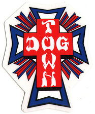 Dogtown Skates Cross Logo Flag Skateboard Sticker - old school skateboarding sk8