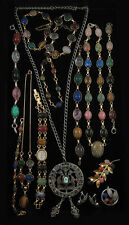Fifteen Articles Of Scarab Jewelry, with three nec Lot 572