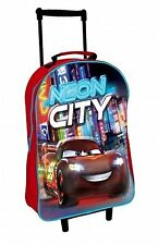DISNET CARS 3D NEON CITY WHEELED TRAVEL CASE TROLLEY BAG SUITCASE