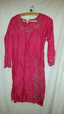 LOVELY VINTAGE RETRO ? ASIAN WEDDING ? DRESS RED WITH SEQUINS 32 CHEST