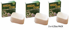 3 X CRITTER'S CHOICE SMALL ANIMAL MINERAL STONE TEETH HUTCH CAGE TREAT 31063 NEW