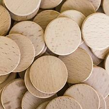 """Round Unfinished 1.5"""" Wood Cutout Circles Chips for Arts & Crafts Projects, Boar"""