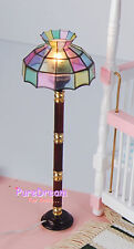 1:12 Scale Dollhouse Lighting Equipment Floor Lamp with Electric Wire Plug LF003