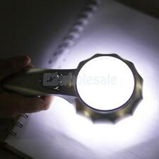 6X Magnifier Illuminated Pocket Handle LED Light Magnifying Glass 600555