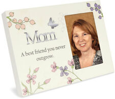 "AngelStar Stand/Hang Modern Resin Photo 4"" X 6"" Frame Mom A Best Friend - 13369"