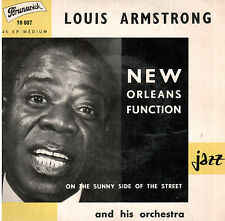 45T EP: Louis Armstrong: new orleans function. brunswick
