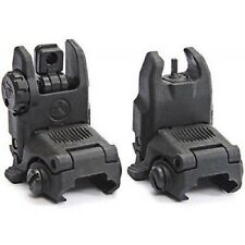 MAGPUL PTS GEN2 MBUS Polymer Front + Rear Backup Folding Sight BLACK Airsoft