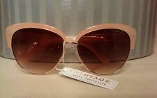 New Vintage Oversize Peach Cateye Sunglasses With Amber Lens nwt