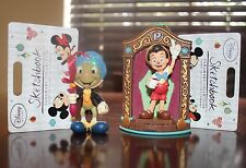 New! Disney Store Pinocchio & Jiminy Cricket Sketchbook Christmas Ornament