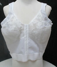 NWOT Vintage Comfort Choice Sheer Nylon Long Lined Lace Trim Wire Free Bra 46 B