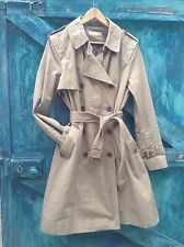 womens trenchcoat size 16 brown beige cotton vintage land girl mac raincoat Vgc