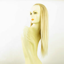 DT Half wig HairPiece golden blond poly mesh very light blond 23.6 :14/24bt613