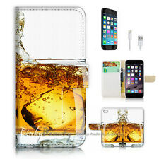 iPhone 7 (4.7') Flip Wallet Case Cover P2980 Beer