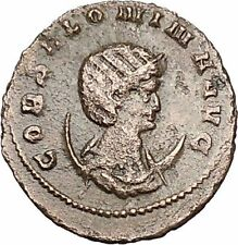 Salonina Wife of Gallienus Authentic Ancient Roman Coin Antelope  i40733