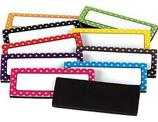 TCR Polka Dot Magnetic Labels White Board Accents 30 Labels 10 Colors TCR20650