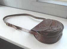 Vintage River Island 100% Leather Saddle Hand Across Body Shoulder Bag Excellent