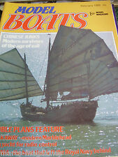 MODEL BOATS MAG 1985 FEBRUARY CHINESE JUNKS KEN SUTCLIFFE EMPRESS MAURETANIA
