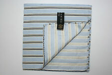 Nino Danieli Mens Blue Striped Suit Pocket Square Silk Handkerchief Gift For Him
