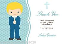 10 Personalised Communion Thank You Cards Boy 1