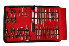 GERMAN STAINLESS STEEL 34 PCS very nice MANICURE AND PEDICURE SET/KITFULL RANGE