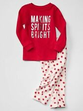 NWT BABY GAP GIRL'S PURE RED MAKING SPIRITS BRIGHT PJ SET (18-24 M)
