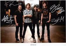 ALL TIME LOW AUTOGRAPHED SIGNED A4 PP POSTER PHOTO