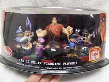 Disney Store Wreck It Ralph Fix It Felix COMPLETE SET PVC Figures Cake Toppers