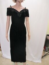 JUNIORS SIZE 5 DRESS Velvet Velour Sexy Dressy Black Prom Christmas Party Gothic