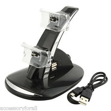 USB Dual Charger Station Dock Cable for Sony PS3 Wireless Bluetooth Controller