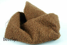 """Mohair Fat 1/4 yard 1/2"""" sparse  curly  felted milk chocolate brown H9"""