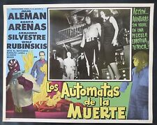 """AUTOMATAS DE LA MUERTE"" NEUTRON BLACK MASKED WRESTLER N MINT LOBBY CARD PHOTO"