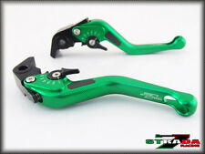 Strada 7 CNC Short Carbon Fiber Levers Yamaha MT-01 2004 - 2009 Green