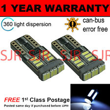 2X W5W T10 501 CANBUS ERROR FREE WHITE 18 SMD LED SIDELIGHT BULBS SL103904
