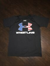 New Men's Wrestling Singlet Shirt Under Armour Black Team USA Olympics Small S