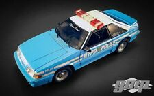 NYPD 1988 FORD MUSTANG GT POLICE CAR 5.0 DIECAST GMP 1:18 ACME
