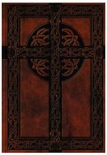 NEW Blank Book Celtic Cross Diary Lined Writing Journal Notebook Leather Like