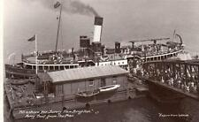 New Brighton Ferry S S J Farley at Pier unused RP old pc Empire View