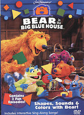 Bear in the Big Blue House - Shapes, Sounds and Colors with Bear (DVD, 2004)