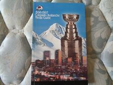 1996-97 COLORADO AVALANCHE MEDIA GUIDE Yearbook 1995-96 NHL CHAMP Hockey 1997 AD