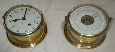 GERMANY SCHATZ ROYAL MARINER CLOCK 8 DAY AND BAROMETER WITH KEY  WORKING