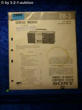 Sony Service Manual FH 3 Compact Component System (#2968)