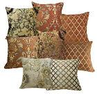 Damask Checker Flower Plant Match Color Cotton Blend Cushion Cover/Pillow Case