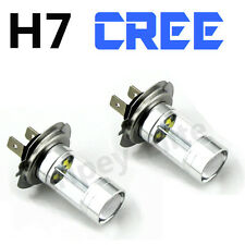 H7 (499) SUPER WHITE CREE 40w UPGRADE HEADLIGHT BULBS HID 6000K 12V ULTRA BRIGHT