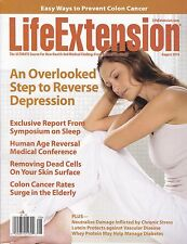 LIFE EXTENSION August 2016 -- Colon Cancer, Reverse Depression, Sleep, Stress