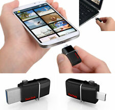 SanDisk 64GB Ultra Dual Flash Drive Pen Memory Stick For Android Phones Tablets